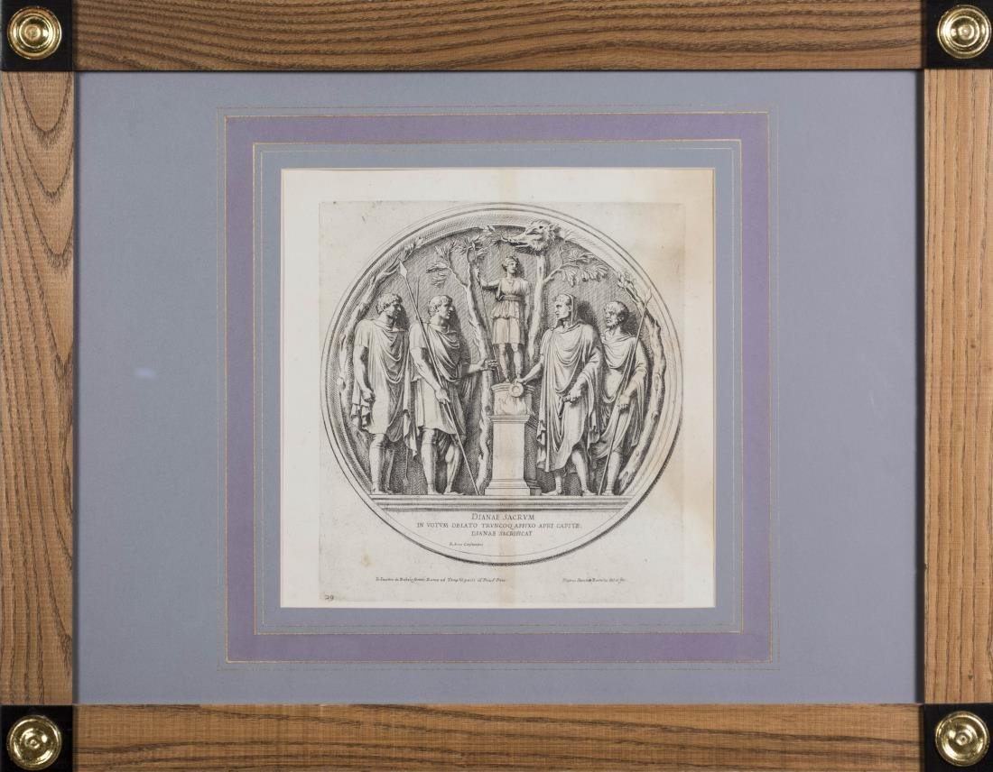 Four Vintage Neoclassical Engravings - 4