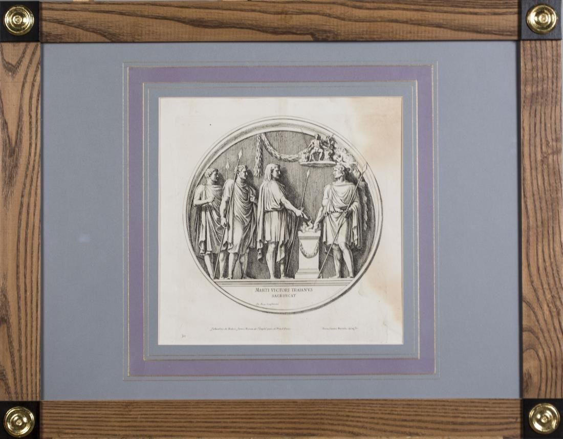 Four Vintage Neoclassical Engravings - 5