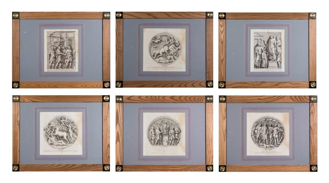 Six Vintage Neoclassical Engravings
