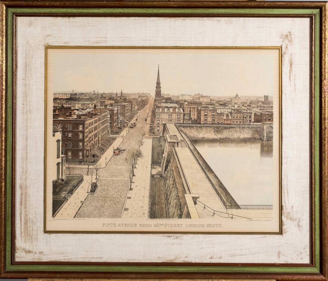 Pair of Lithographs of Old New York - 2