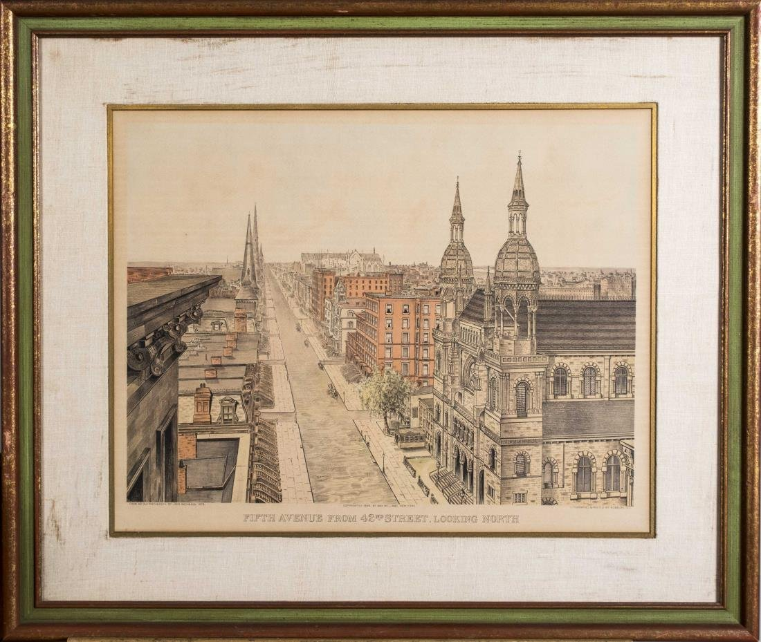 Pair of Lithographs of Old New York - 3
