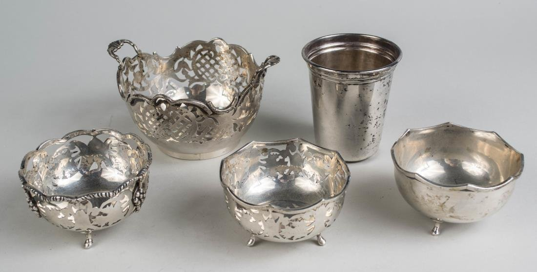 Four Vicenza Silver Footed Dishes