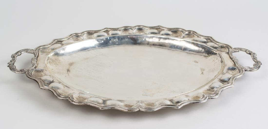 Silver Two Handle Serving Tray