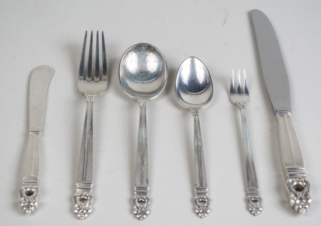International Sterling Silver Flatware Service - 2