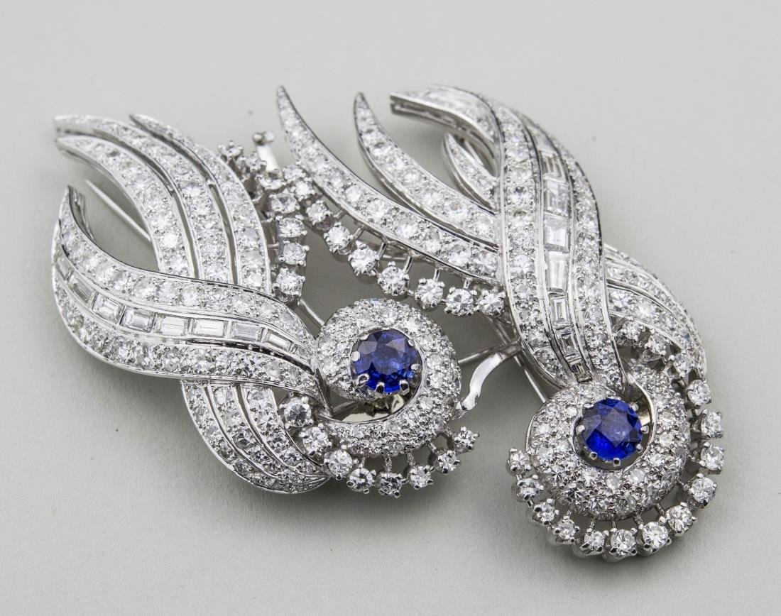 Cartier Diamond and Sapphire Brooch   *