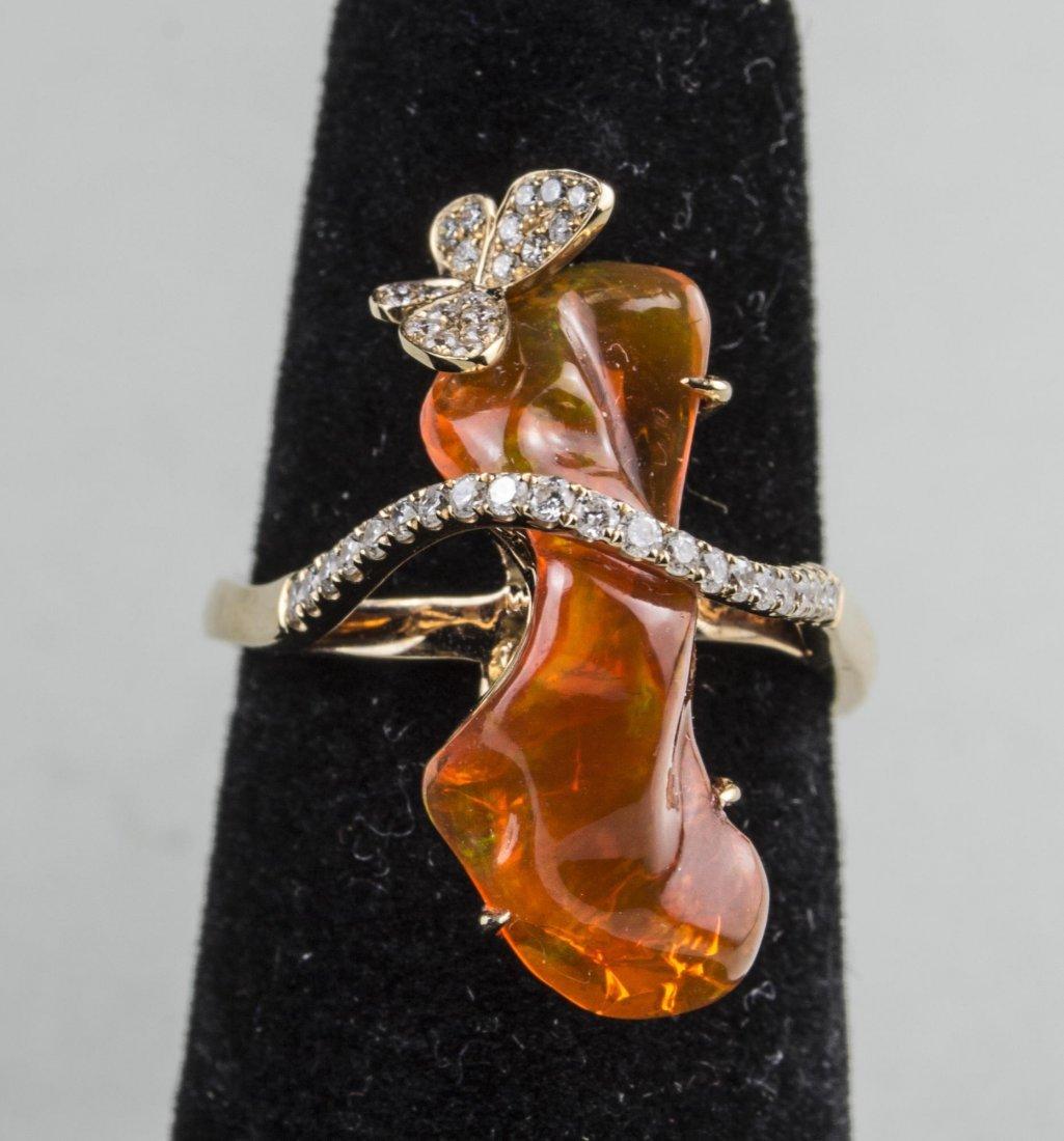 Fire Opal Ring   *