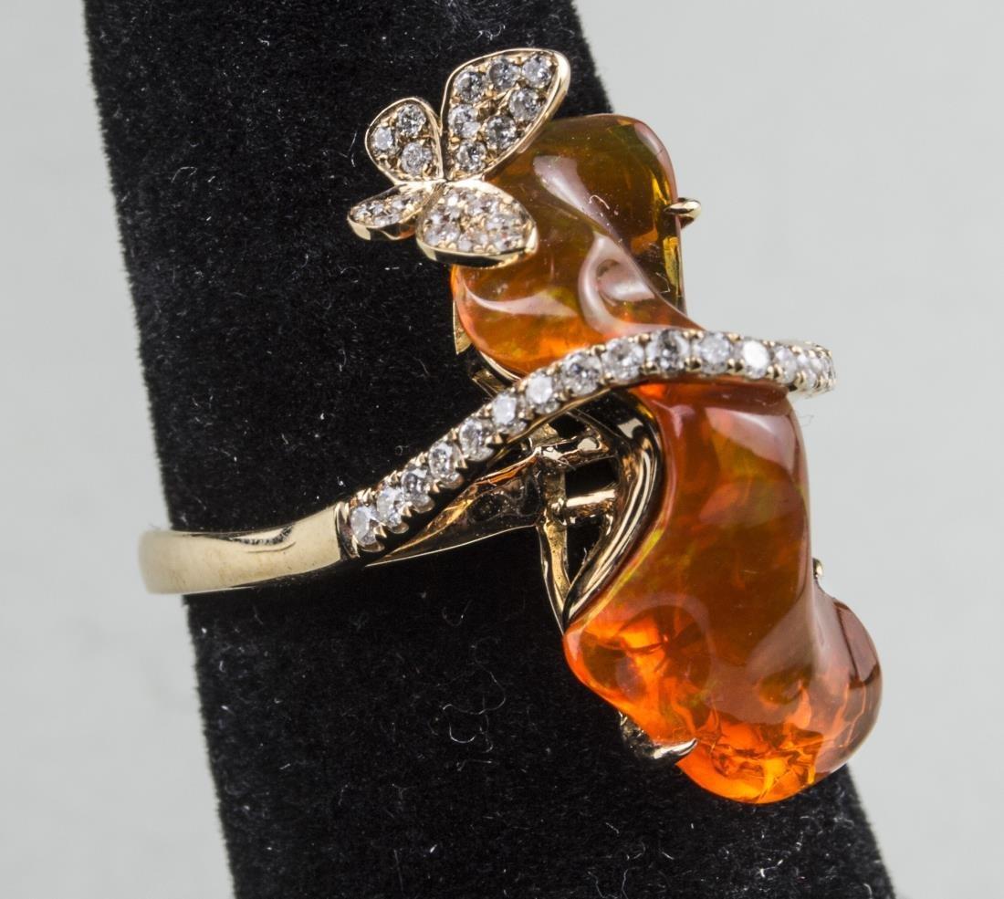 Fire Opal Ring   * - 2