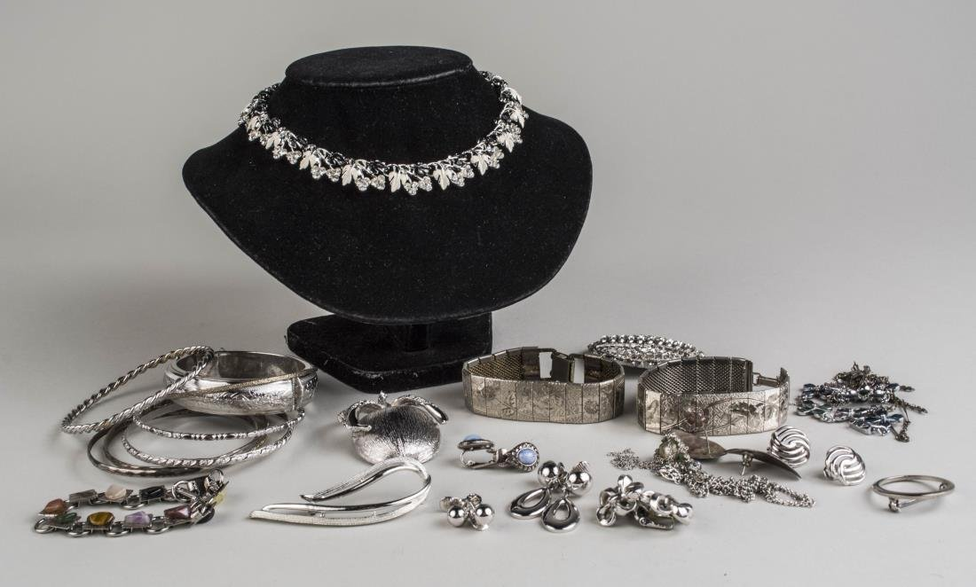 Group of Silver Tone Jewelry