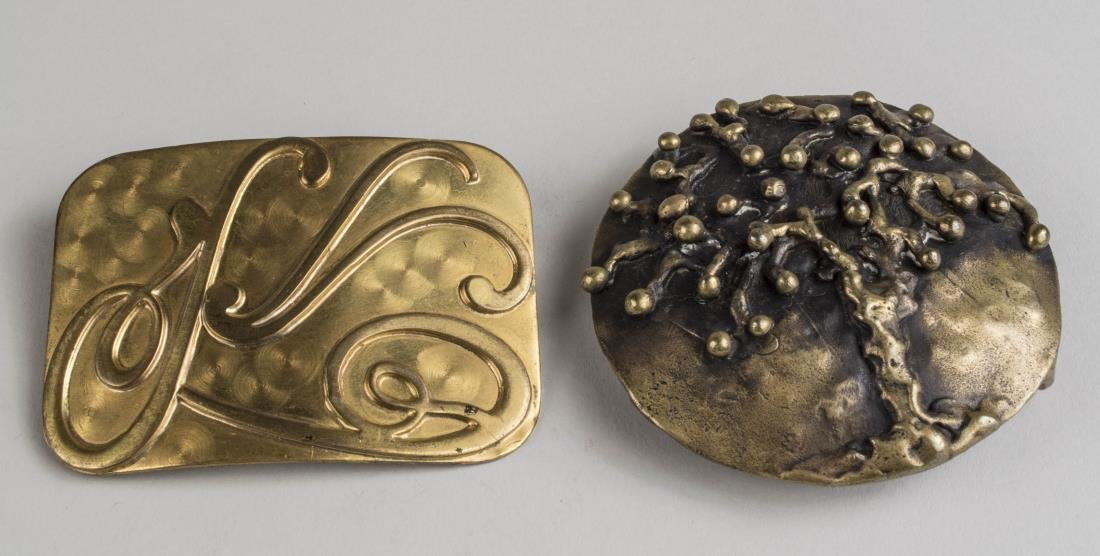 Brass Belt Buckle and Brooch