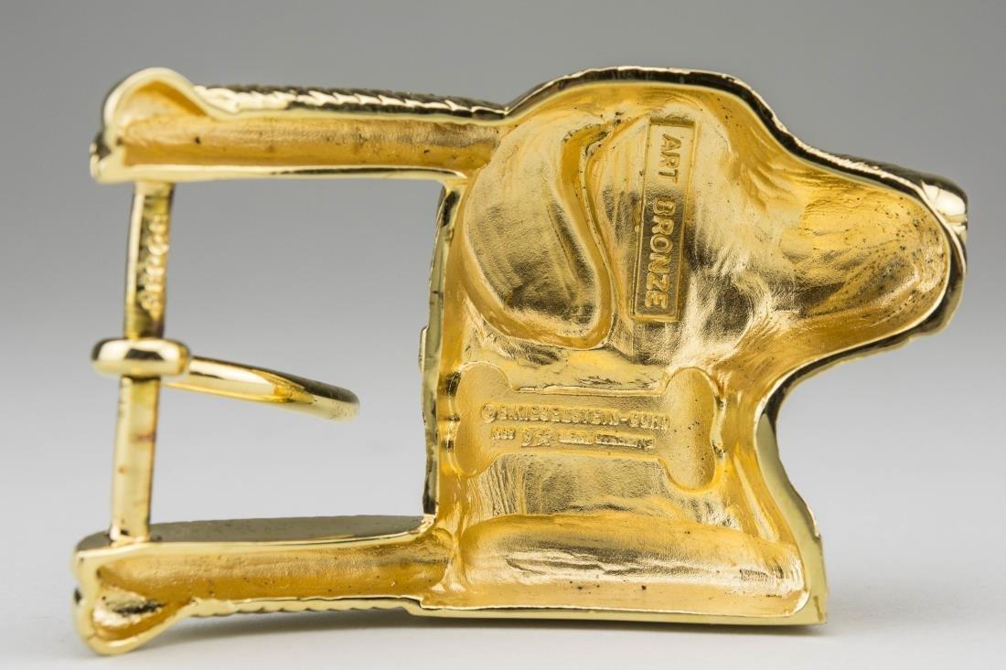 Kieselstein-Cord Art Bronze Belt Buckle - 2
