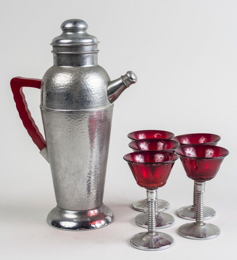Keystoneware Art Deco Style Cocktail Set