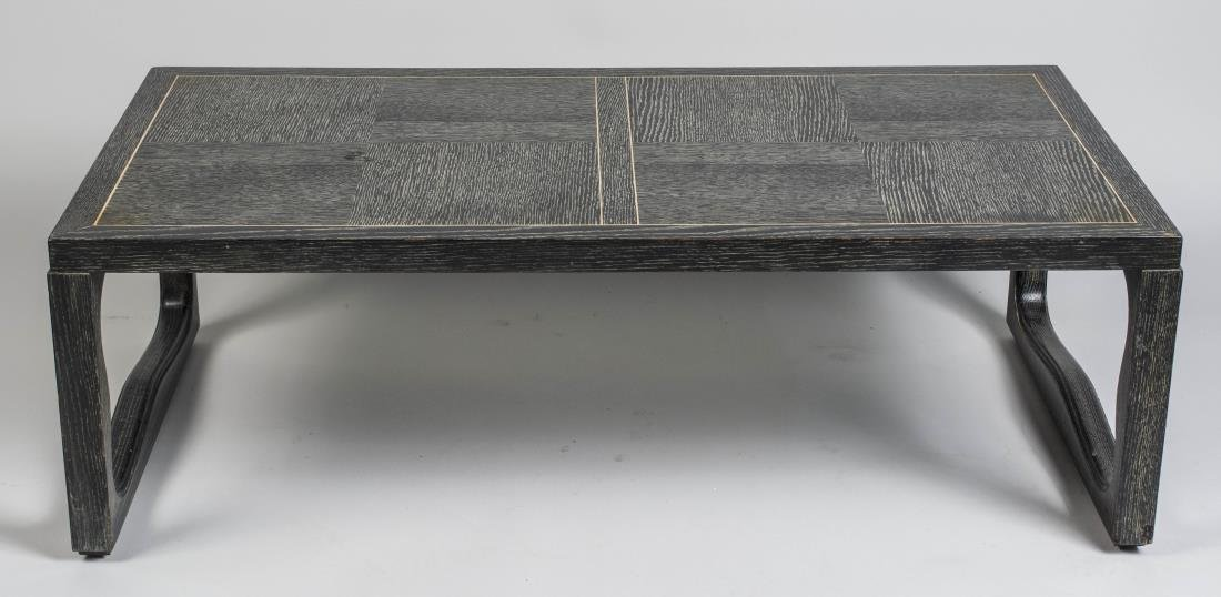 Brown Saltman Cerused Oak Cocktail Table