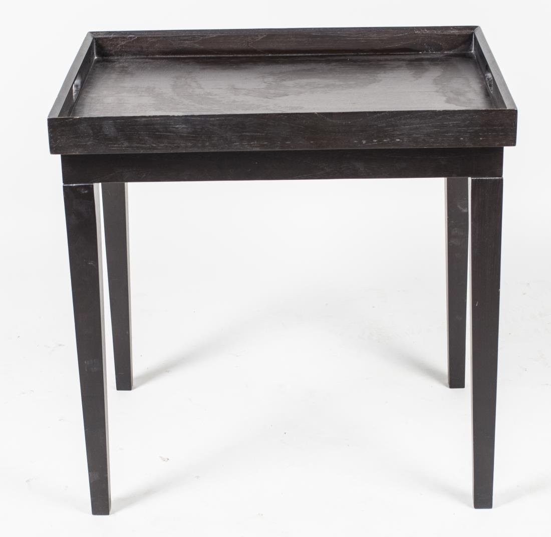 Ebonized Wood Tray Top Table