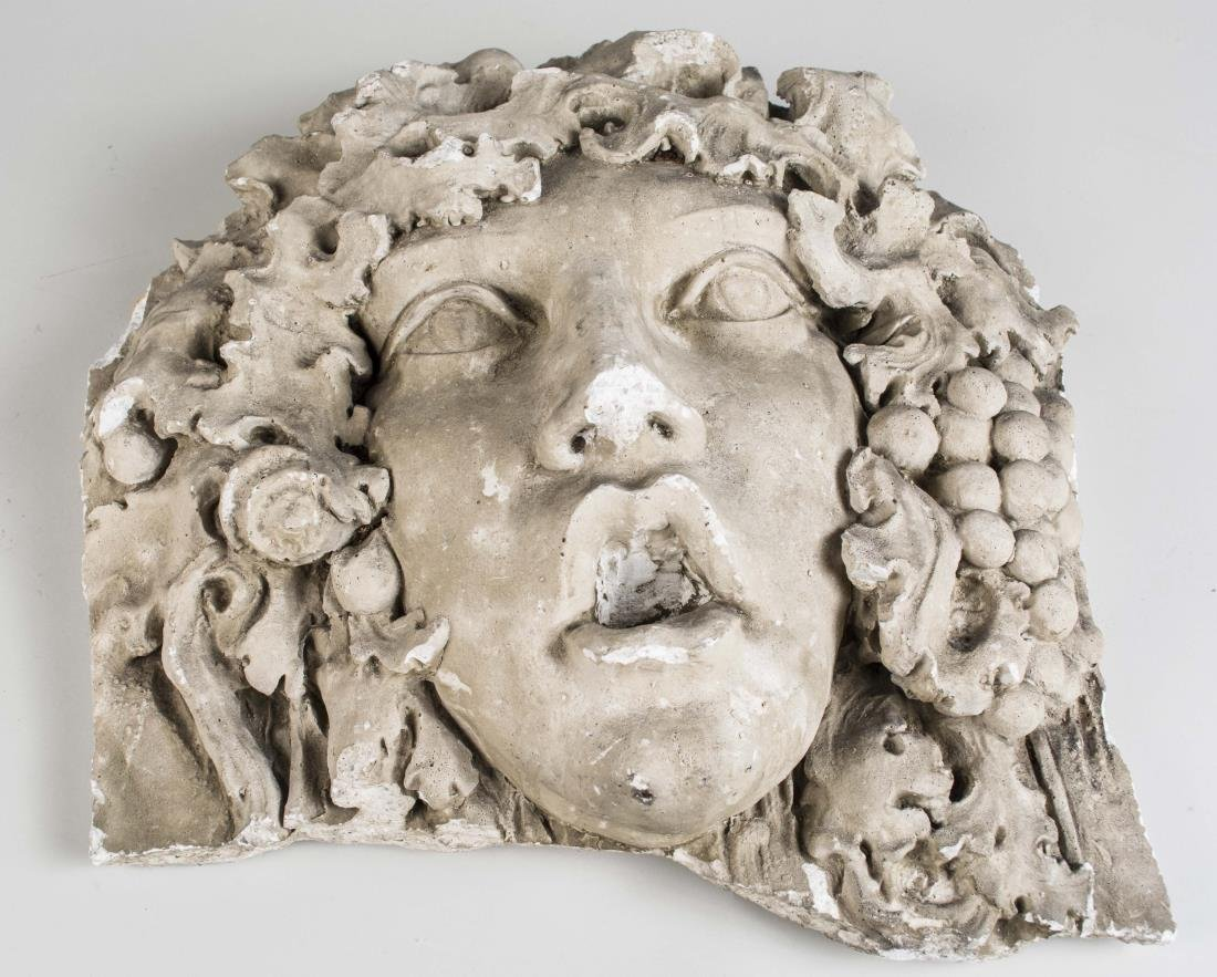 Carved Stone Mask of Bacchus