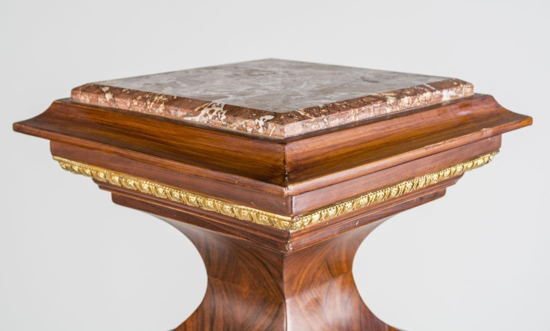 Marble Top Bronze Mounted Pedestal - 2