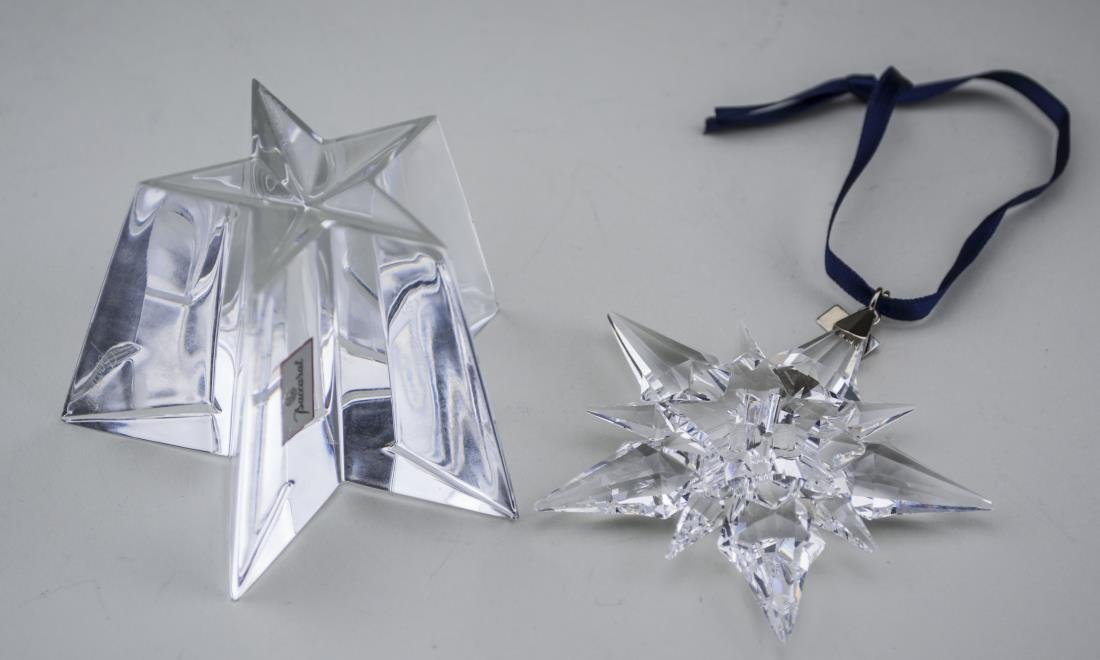 Baccarat Paperweight & Swarovsky Snow Flake