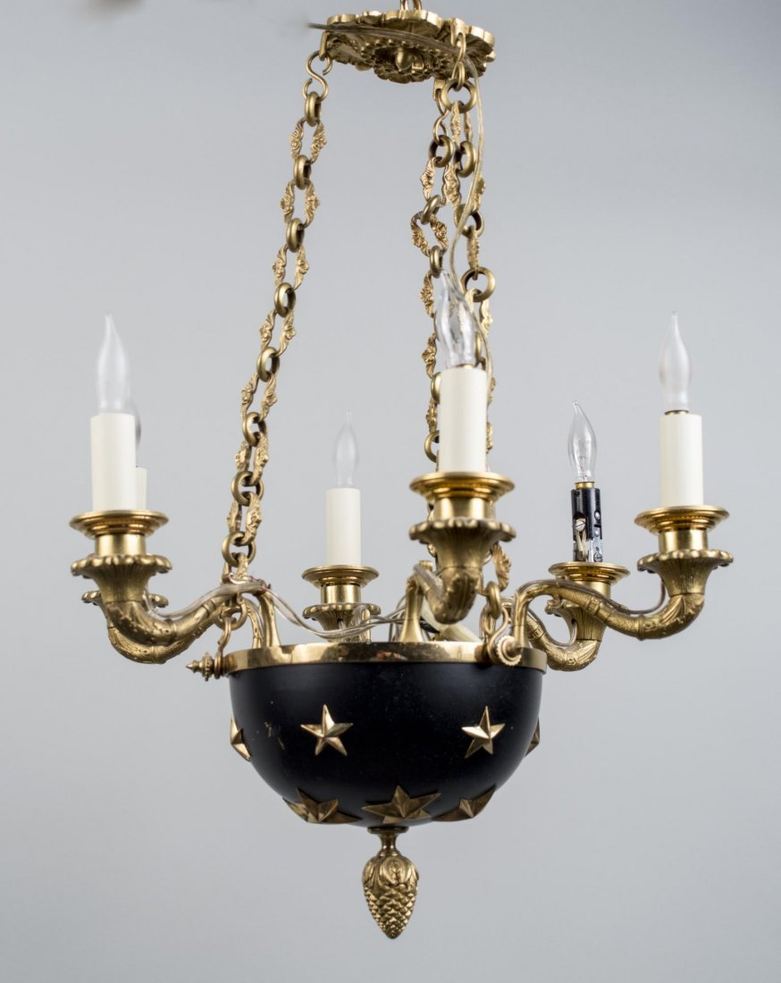 Empire Style Six Light Chandelier