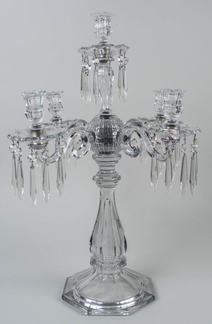 Five Light Crystal Candelabra