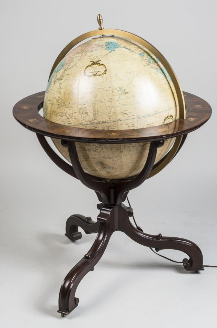 Illuminated World Globe on Stand