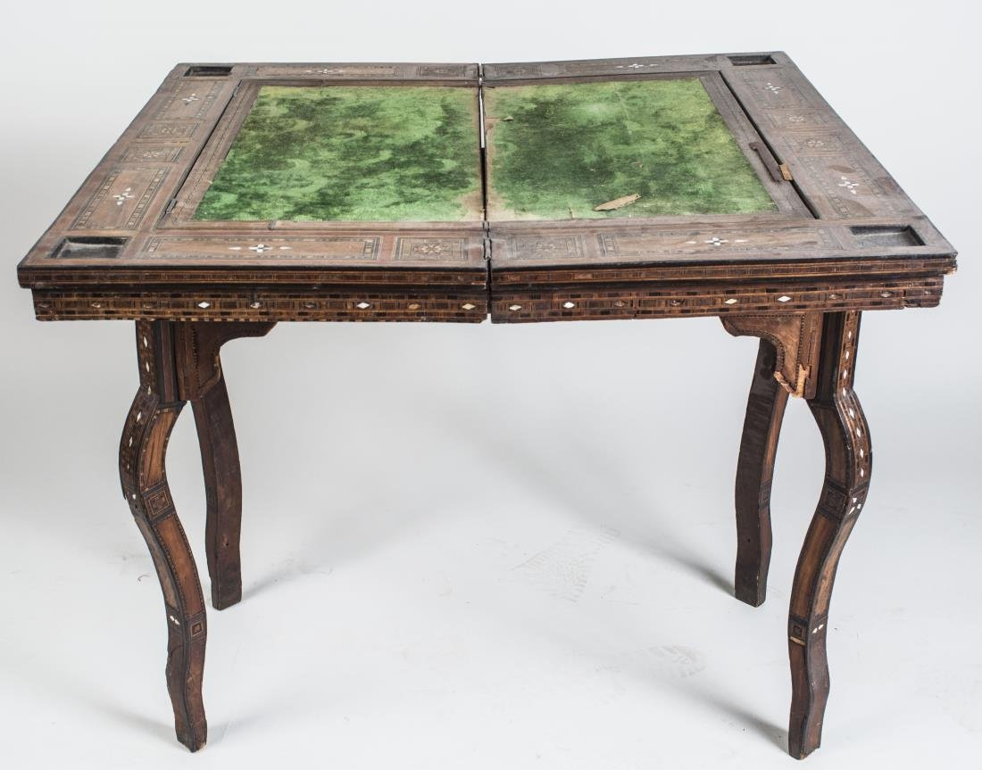 Moroccan Mother of Pearl Inlaid Games Table - 2