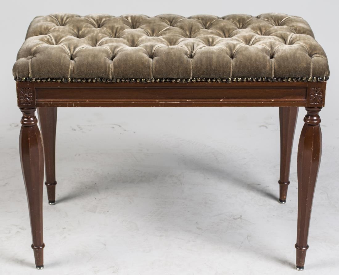 Sheridan Style Mahogany Bench