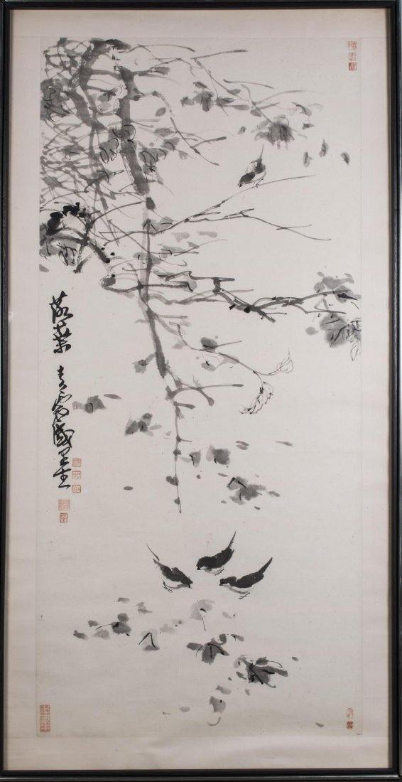 Large Chinese Ink Drawing