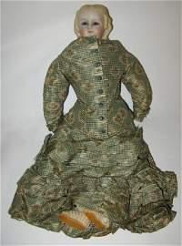 "3: Antique 13"" Glass Eyed Parian Fashion Doll"