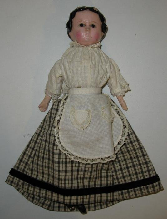 11: Antique Wax over Composition Doll