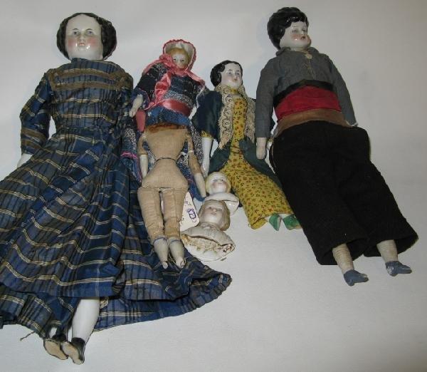 15: Lot of 6 Vintage China Head Dolls