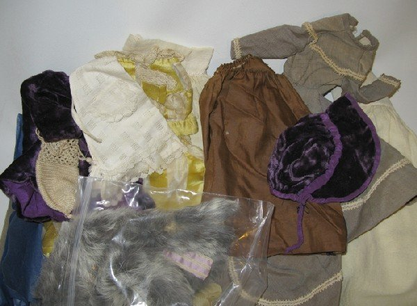 22: Lot Victorian Fashion Doll Clothing/ Costumes.
