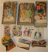 109 Lot of Japanese paper dolls etc