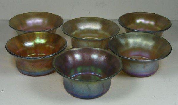 2007: Six irredescent Tiffany salts