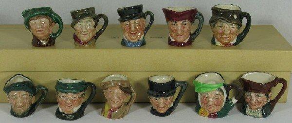2012: Eleven miniature Royal Doulton figural toby mugs