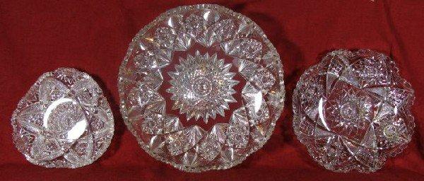 2018: Three cut glass pieces