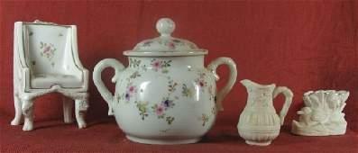 2277: Four miniature porcelain pieces