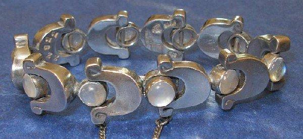 3258: Vintage 50's Heavy Sterling  Bracelet Taxco Signe