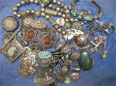 3282: Lot of Vintage Sterling Silver Jewelry