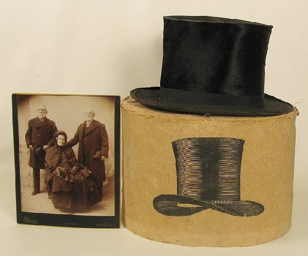 4001: Andrew H. Green's Top Hat and photo of A.H.G with