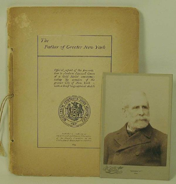4009: Photograph of A.H.G 1902, and booklet:Official Re