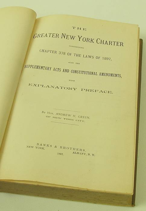 4014: Book: The Greater N.Y. Charter by Honorable Andre