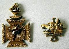 4063B: Two fraternal pins