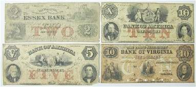 5294 Four American bank notes