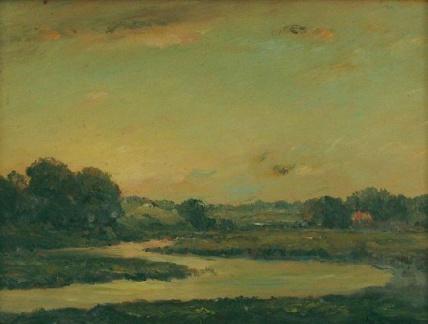 6009: Landscape with river and clouds