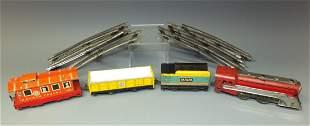 HAFNER TIN WINDUP TRAIN SET & TRACK