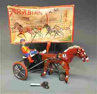 GERMAN ARABIAN HORSE RACER WINDUP BOX