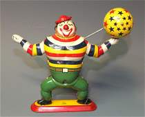 SCARCE TPS BOBO THE JUGGLING CLOWN WINDUP