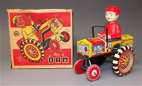 MARX DAN TIN WINDUP DIPSY CAR & BOX