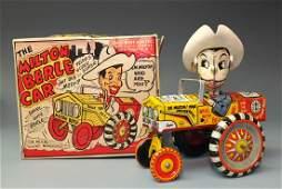 MARX MILTON BERLE TIN WINDUP CAR & BOX