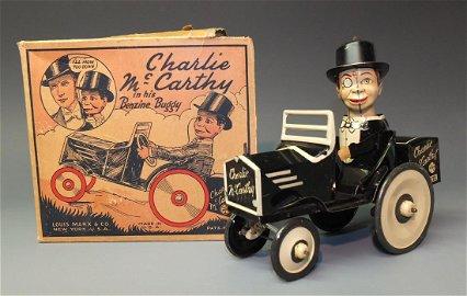 MARX CHARLIE MCCARTHY BENZINE BUGGY CAR & BOX