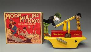 MARX MOON MULLINS & KAYO HANDCAR WINDUP & BOX